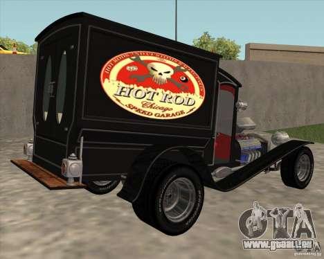 Ford model T 1923 Ice cream truck pour GTA San Andreas laissé vue