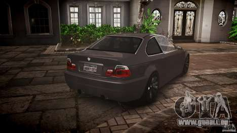 BMW 3 Series E46 v1.1 pour GTA 4 est une vue de l'intérieur