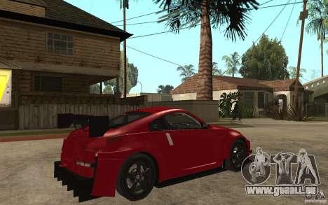 Nissan 350Z Supreme pour GTA San Andreas vue de droite