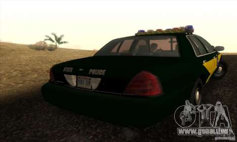Ford Crown Victoria Indiana Police pour GTA San Andreas laissé vue