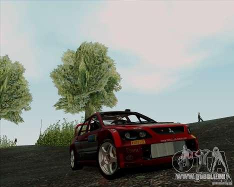 Mitsubishi Lancer Evolution VIII WRC pour GTA San Andreas laissé vue