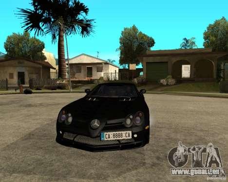 Mercedes-Benz SLR 722 pour GTA San Andreas vue arrière
