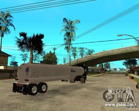 Rubber Duck Mack pour GTA San Andreas sur la vue arrière gauche