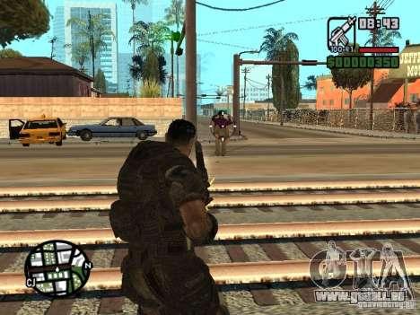 Dominic Santiago de Gears of War 2 pour GTA San Andreas deuxième écran