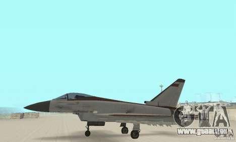 EF-2000 Typhoon V1.3 pour GTA San Andreas vue intérieure