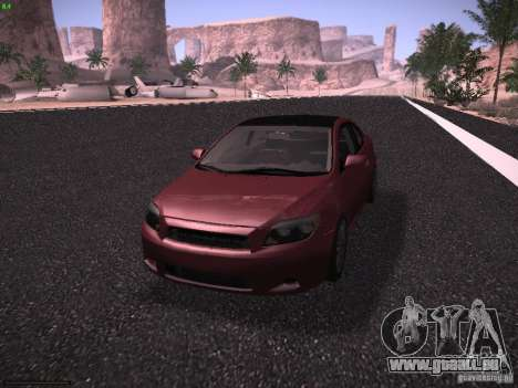 Scion tC pour GTA San Andreas vue arrière