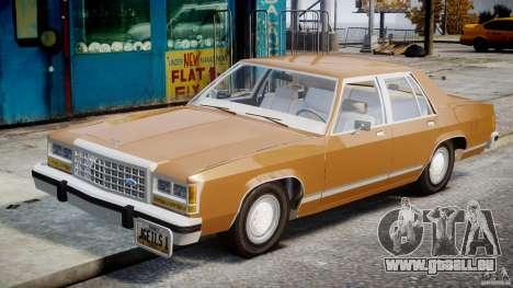 Ford Crown Victoria 1983 für GTA 4 Innenansicht