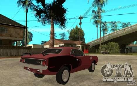 Plymouth Cuda 426 pour GTA San Andreas vue de droite