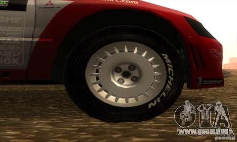 Mitsubishi Lancer Evolution VII pour GTA San Andreas vue de droite