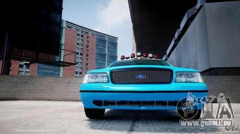 Ford Crown Victoria Classic Blue NYPD Scheme pour GTA 4 vue de dessus