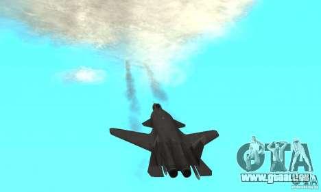 Su-47 Berkut Stanardarbeitsplan für GTA San Andreas Rückansicht