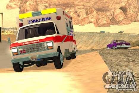 Ford Econoline Ambulance für GTA San Andreas linke Ansicht