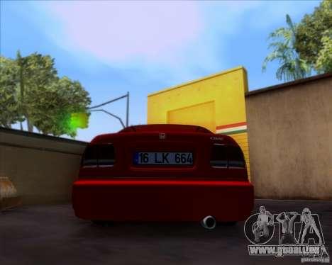 Honda Civic 16 LK 664 pour GTA San Andreas vue arrière