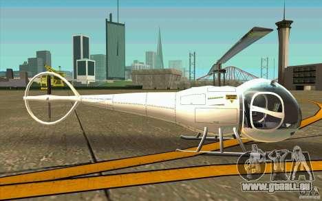 Dragonfly - Land Version für GTA San Andreas zurück linke Ansicht