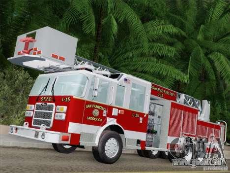 Pierce Aerials Platform. SFFD Ladder 15 pour GTA San Andreas laissé vue