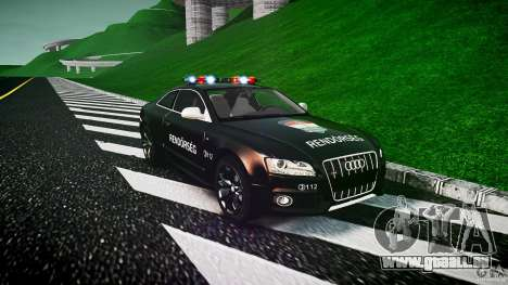 Audi S5 Hungarian Police Car black body für GTA 4