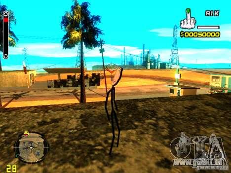 TrollFace skin pour GTA San Andreas troisième écran