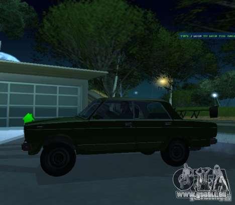 VAZ 2107 ermöglicht für GTA San Andreas zurück linke Ansicht