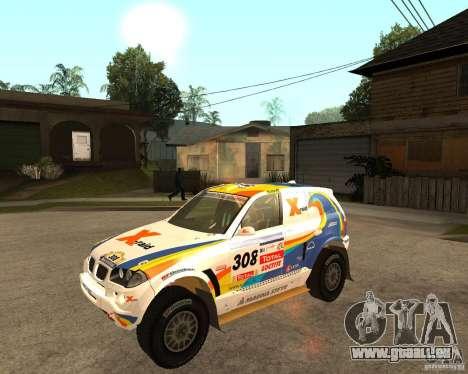 BMW X3CC X-Raid pour GTA San Andreas laissé vue