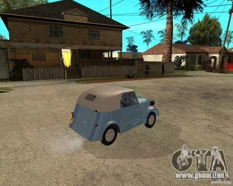 SMZ s-3 a pour GTA San Andreas sur la vue arrière gauche