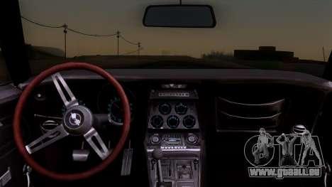 Chevrolet Corvette C3 Stingray T-Top 1969 v1.1 pour GTA San Andreas vue de droite