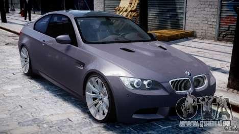BMW M3 E92 stock pour GTA 4 est une vue de dessous