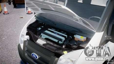 Ford Transit Pickup 2008 für GTA 4 Rückansicht