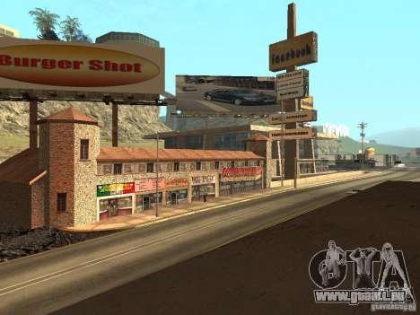 Neue Mullholland-neue Straße Mulholland für GTA San Andreas