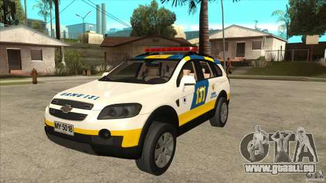 Chevrolet Captiva Police pour GTA San Andreas