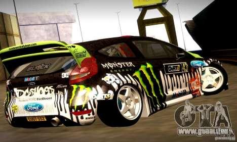 Ford Fiesta Gymkhana 4 für GTA San Andreas Innen