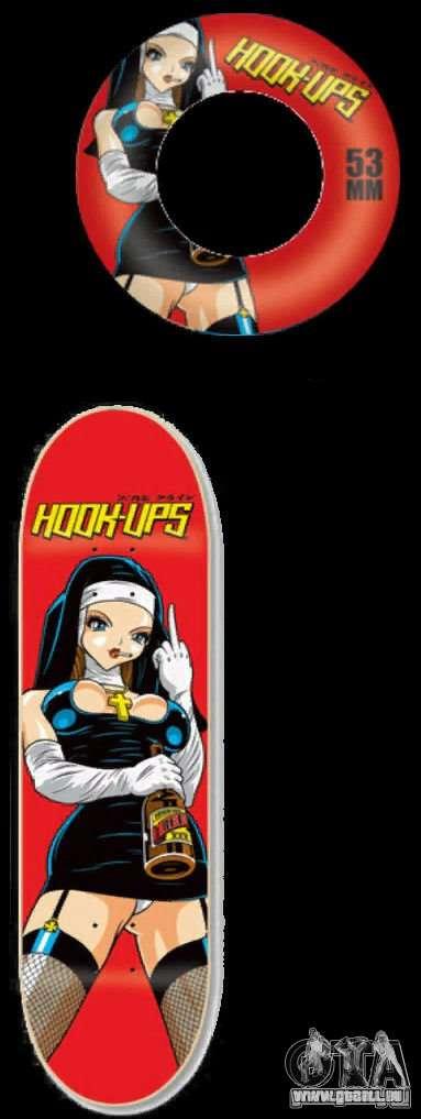Skateboard # 3 pour GTA 4 est une vue de l'intérieur
