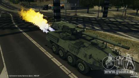 Stryker M1128 Mobile Gun System v1.0 für GTA 4 Innen