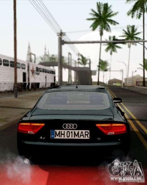 Audi A7 Sportback 2010 für GTA San Andreas rechten Ansicht