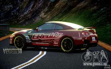 Nissan GT-R Black Edition GReddy pour GTA 4 Vue arrière de la gauche