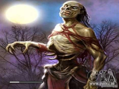 Écran de démarrage de Zombies pour GTA San Andreas quatrième écran