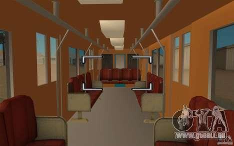 Metro type 81-717 für GTA San Andreas zurück linke Ansicht