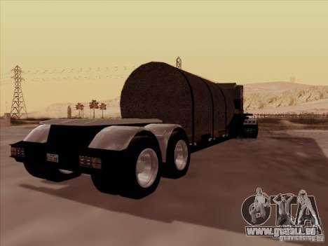Remorque, Peterbilt 378 Custom pour GTA San Andreas vue arrière