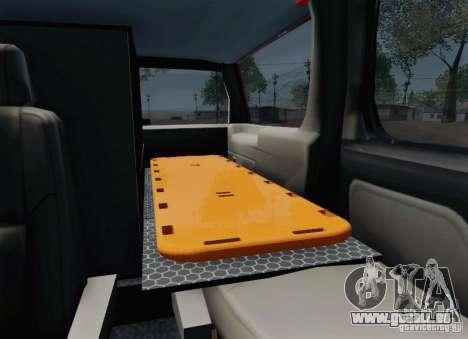 Chevrolet Suburban EMS Supervisor 862 pour GTA San Andreas vue de dessous