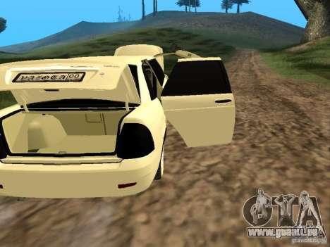 LADA Priora 2170 Limousine für GTA San Andreas Innenansicht