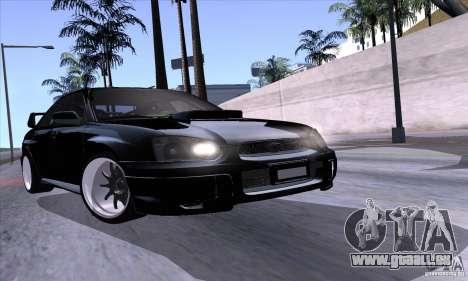 Subaru Impresa WRX light tuning pour GTA San Andreas vue de côté