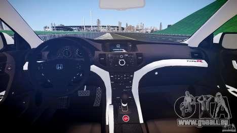 Honda Accord Type R NYPD (City Patrol 2322) ELS für GTA 4 obere Ansicht