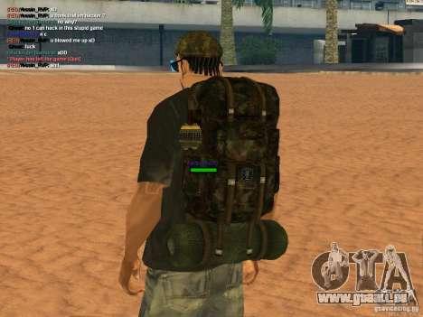 Military backpack pour GTA San Andreas deuxième écran