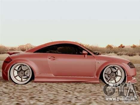 Audi TT pour GTA San Andreas sur la vue arrière gauche