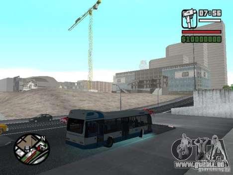 DAF pour GTA San Andreas vue de droite