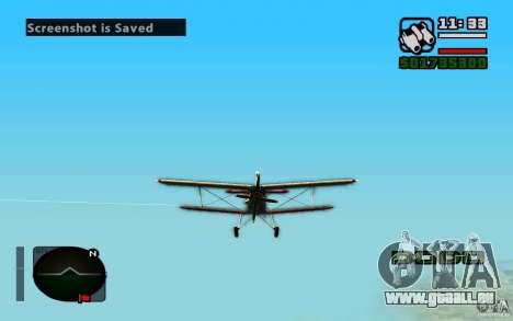 Antonov an-2 pour GTA San Andreas laissé vue