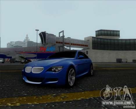 BMW 6 Series M pour GTA San Andreas vue arrière