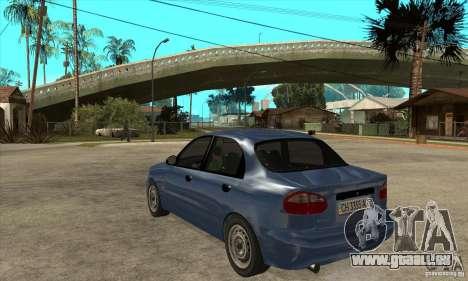 Daewoo Lanos v2 pour GTA San Andreas sur la vue arrière gauche