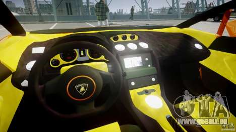 Lamborghini Gallardo Superleggera pour GTA 4 Vue arrière