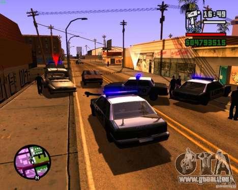 Chassant les machines pour GTA San Andreas deuxième écran