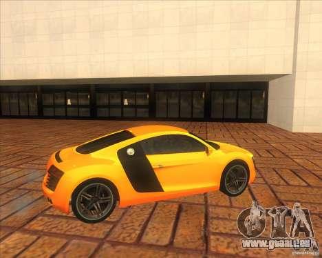 Audi R8 2007 pour GTA San Andreas laissé vue